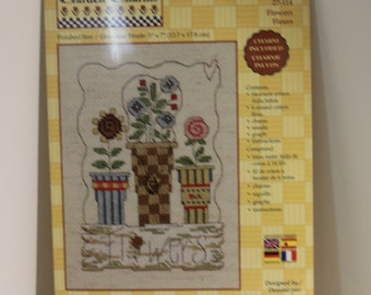FLOWERS Garden Charms Counted Cross Stitch Kit
