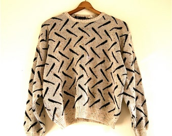 Cropped Sweater / Made in Italy // Vintage