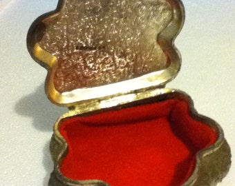 Vintage Pewter Jewelry Box