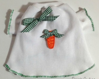 Easter Carrot Dog T-Shirt Clothes XXXS-Medium by Doogie Couture