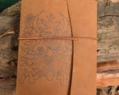 Extra Large Leather Journal with Celtic Greenman Free Personalization