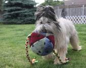 Doodlebug Dud's Dog Toy - Big Kahuna Ball with Tugs