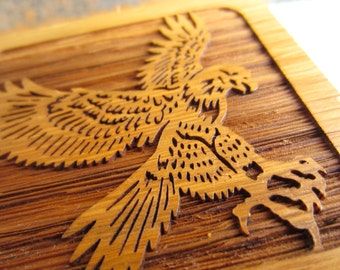 Vintage Eagle Wood Desk Accessory  Laser Engraved by Laserform
