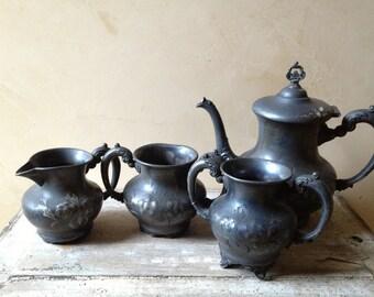 Antique Quad Plate Tea Service