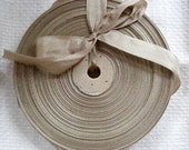 Vintage 1930's-40's French Woven Ribbon -Milliners Stock- 5/8 inch Beige