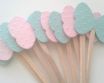 Butterfly cupcake toppers, butterfly cupcake sticks - Set of 12