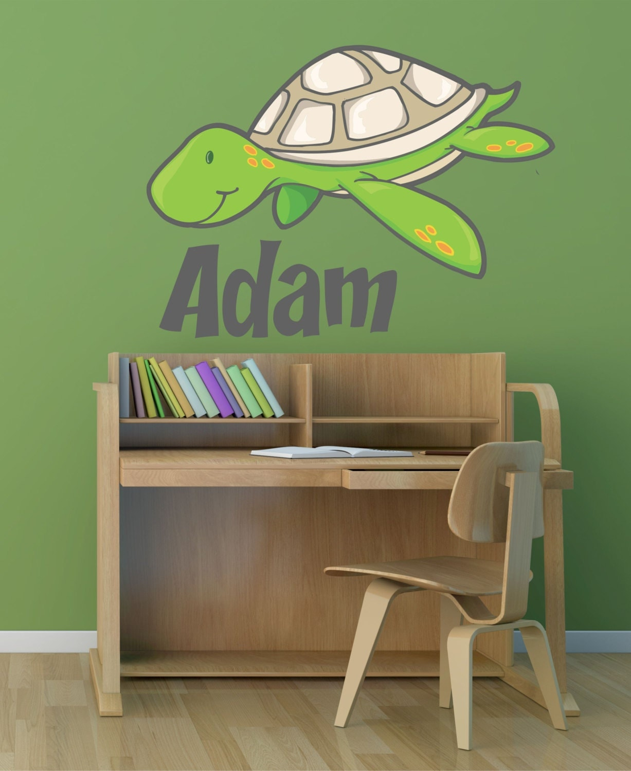sea turtle custom name vinyl wall decal sticker ebay. Black Bedroom Furniture Sets. Home Design Ideas
