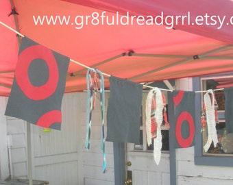 CUSTOM Phish Fishman Donut Prayer Flags Tie Dye Indoor Outdoor Camping Festivals Tour Garden