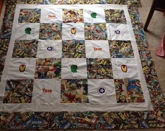Avengers SUPERHERO Quilt Top