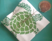 Sea Turtle Deluxe Cotton Flour Sack Towels, set of two