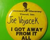 pin 80s button badge punk jewelry  boho bohemian grunge Travel advertising promo ephemera