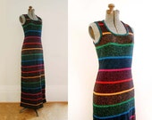 1970's Outlander Knit Maxi Dress