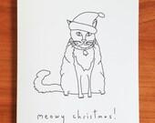 Meowy Christmas - Handmade Card
