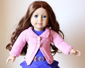 0041 - KNITTING PATTERN for Collared Doll Sweater for 18 inch Dolls - Instant download - Permission to Sell Finished Product