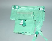 Vintage 50s Arlington Claridge His/Hers Green Shower Curtain Ensemble/Set Near Mint Condition by dvgvintage