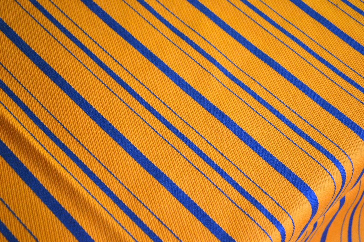 vintage fabric orange and blue embroidered stripe by pumpkintruck. Black Bedroom Furniture Sets. Home Design Ideas