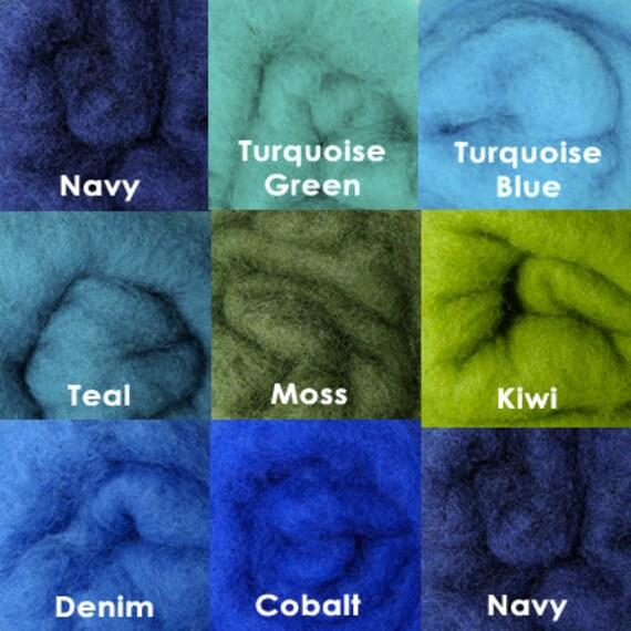 8 oz C-1 Needle Felting Wool Collection Ocean