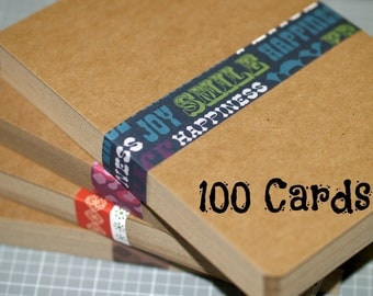 kraft postcards   chipboard cards  x  x, invitation samples