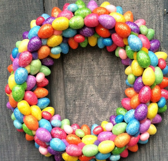 Colorful Easter Egg Wreath II by Silk N Lights Designs