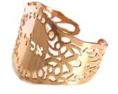 Rose gold bracelet, Spiral cuff, rose gold cuff,Jewish Jewelry, Kabbalah Jewelry, delicate rose gold bracelet, unique jewish jewelry