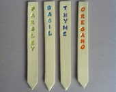 Herb Garden Stake Marker  - Indoor Outdoor  - Set of four - In Stock - Ready to Ship - Garden Lover  - Gardening or Hostess Gift