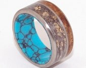 Wooden Wedding Rings, titanium ring, titanium wedding rings, Eco-friendly rings, mens ring, womens rings, wood rings - THE SEA BENEATH
