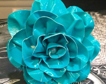 Duck Aqua Teal Duct Tape Flower Pen