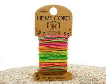 Neon Cord,  1mm,   20 Feet,  Jewelry Cord, Neon Hemp Cord, Bracelet Cord -HC20
