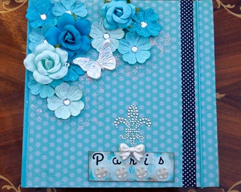 Journal Notebook Shabby Paris Romantic