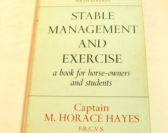Stable Management And Exercise Sixth Edition By Captain M. Horace Hayes