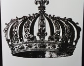 Royal Crown Greeting Cards- His and/or Hers- Black and White Greeting Card- 4x6 (A2)