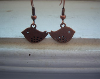 Bird Earring -Woodland Wedding Earrings - Free Gift With Purchase