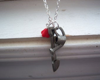 Gardening Necklace -Gardener Necklace - Shovel Necklace -Botanist Necklace - Watering Can Necklace - Free Gift With Purchase