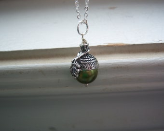Acorn Necklace - Kiss Necklace - Woodland Necklace - Wedding Necklace - Free Gift With Purchase