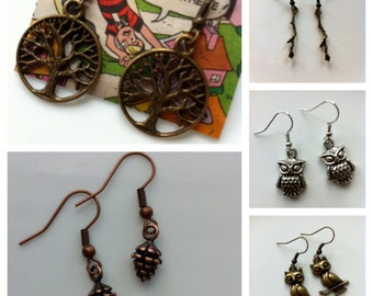 Up in the Trees - Earrings