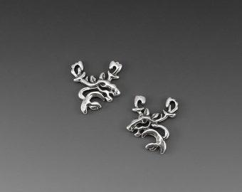 Moose Spirit Sterling Silver Post Earrings