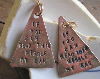 Copper NIBBLE Earrings