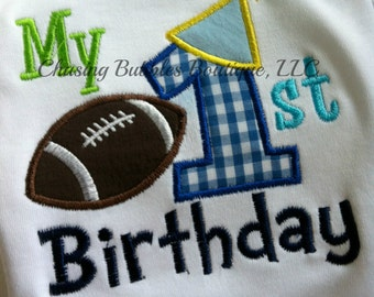 My First Birthday boys football Shirt