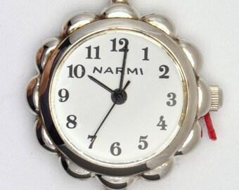 Round Watch Face | Flower Watch Face | White Watch Face | Silver Watch Face | Beading Watch Face | Ladies Watch Face | Watch Face - WF00002