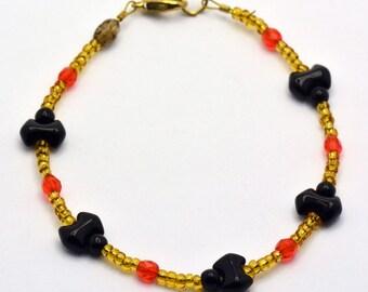 Sale / On Sale / Clearance Jewelry / Jewelry on Sale / Marked Down / Bats Glass Beaded Bracelet - BR00109