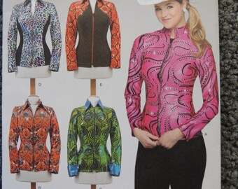 Simplicity 1361Misses Knit Equestrian Performance Shirt