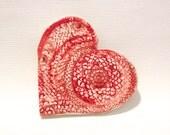 Ceramic Heart Dish with Tea Light