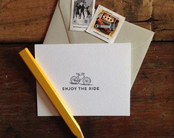 LIT-202 Enjoy the ride letterpress card