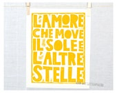 Love that moves the Sun and Other Stars - L' Amore Quote Dante Wall Art