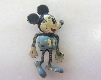 Vintage Steamboat Willie Mickey Mouse in Blue