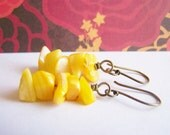 Golden Harvest - Seashell Pieces on Antiqued Gold Artisan Wires - affordable gifts - beach inspired treasures Fall Autumn Winter Collection