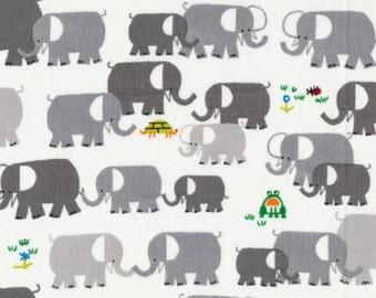 Cloud 9 Fabrics - Happy Drawing by Ed Emberley - Elephants Organic