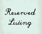 Reserved listing for  alialislp