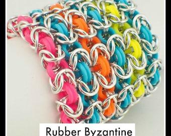 PDF Jewelry Tutorial - Rubber Byzantine Instructions
