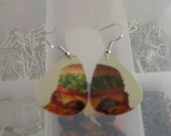 Hamburger Guitar pick earrings or order as just guitar picks